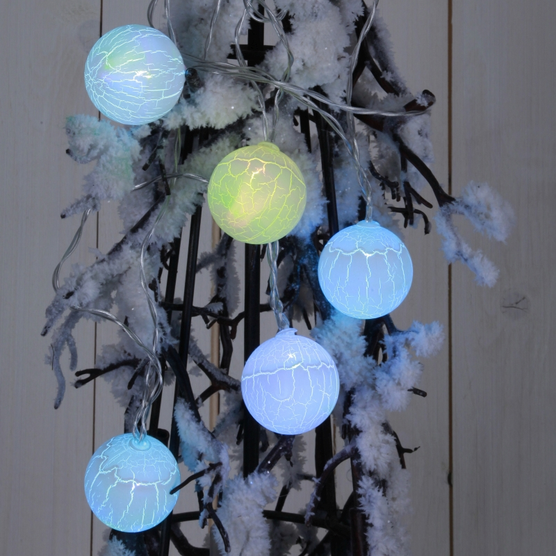 led lichterkette mit 6 kugeln farbwechsel alba ball timer batteriebetrieb. Black Bedroom Furniture Sets. Home Design Ideas